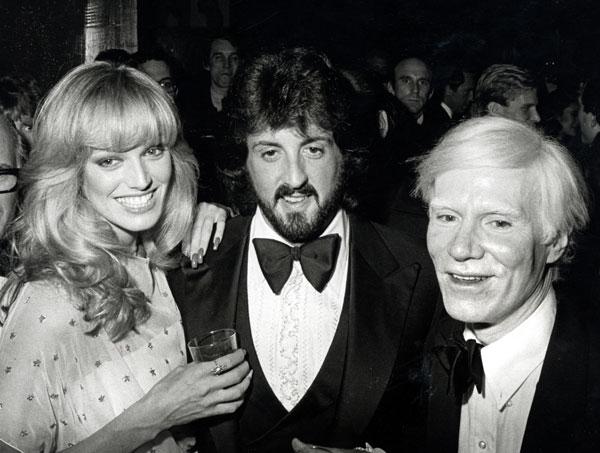 Stallone conocía frases sobre correr, por lo que le quitaba el protagonismo al mismísimo Andy Warhol incluso en las inauguraciones de sus exposiciones.